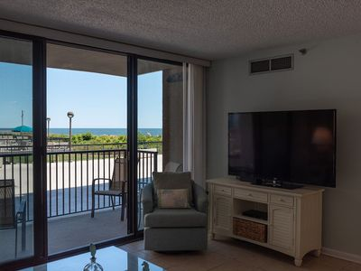 Photo for Ground Level Ocean Front Condo.  Walk right out!  Only 3 summer weeks left!
