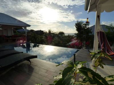 Photo for White villa in le Diamant with an overflow pool and sea view.