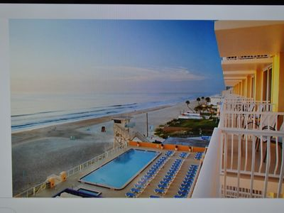 Photo for Daytona Biketoberfest Beachfront Condo Underground Parking, Ormond Beach Patio