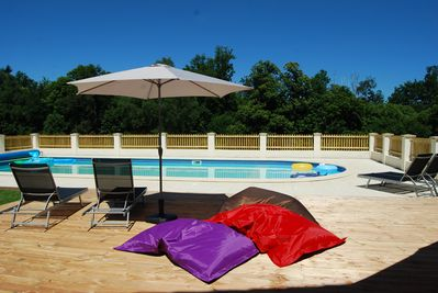 Large Outdoor Heated Swimming Pool