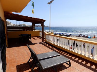 Photo for Beachfront house with 4 bedroom in Medano Beach