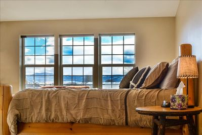 One of three guest suites with mountain views