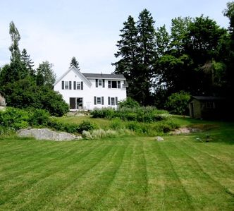 Photo for With spectacular views of the outer harbor Boothbay Harbor, this water-side cottage on Spruce Point