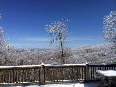 Photo for Updated Beech Mtn Home! 1 Min To Ski Resort, Mountain Views, Hot Tub & 4 Bedroom