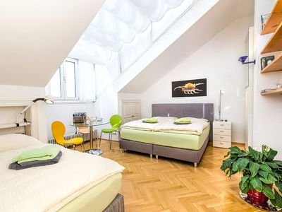 Photo for Luxury Penthouse apartment in 02. Leopoldstadt with WiFi, air conditioning, balcony & lift.