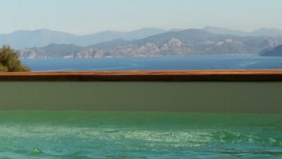 Photo for Modern villa sea view heated pool near Ile Rousse center 10-14 sleeps