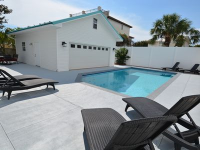 Photo for Luxurious hideaway 5 mins from private deeded beach access with pool
