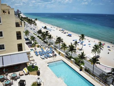 Photo for Beach Vacay Starts Here! Lovely Oceanfront 1BR Suite, Pool, Sauna, Steam Room