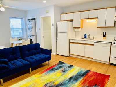 Photo for Studio Condo *parking* 3-minute walk to subway: Harvard,MIT,Lesley,Tufts,Boston