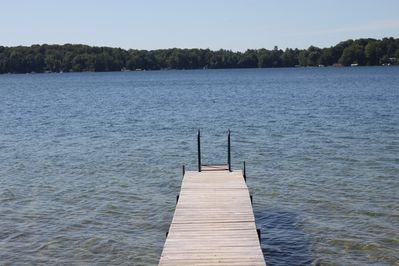 The dock on beautiful Long Lake. Great for swimming!