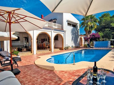 Photo for This 7-bedroom villa for up to 16 guests is located in Javea and has a private swimming pool, air-co