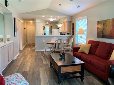 Private condo on the 3rd floor. Fully equipped kitchen for your convenience.