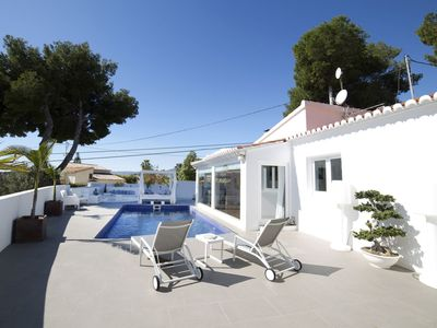 Photo for Beautiful private villa with private pool, A/C, WIFI, TV, balcony, washing machine and parking