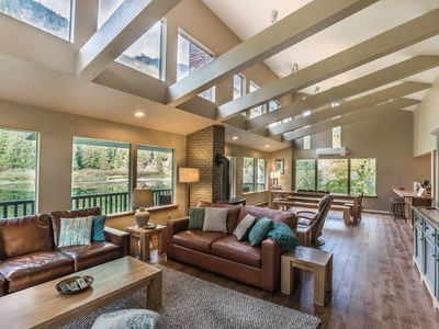 Photo for River Chalet: Spacious, Contemporary Home on the Wenatchee River!