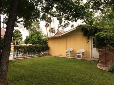 Private and detached from main house and adjacent to pool.