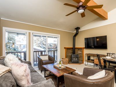 Photo for Updated condo steps from Ketchum with mountain views, summer-use pool and Sun Valley amenities