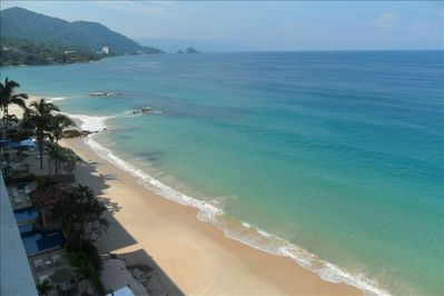 look at this beach! white sand, transparent water, view to Los Arcos, & sunsets