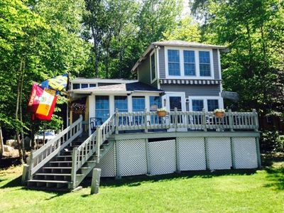 Large House On Lake Sebago With Private Beach