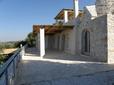 Photo for Stunning  Trullo with very large pool and Amazing Sea View  - Free WiFi