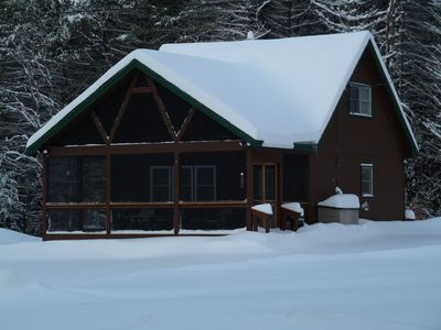 Ski, Snowmobile, Cross Country Ski or Snowshoe -Quiet cozy cabin has it all!