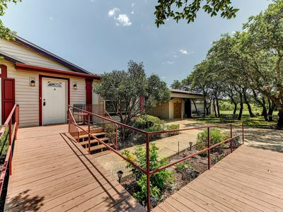 Photo for Kick Back on This Large Back Deck & Watch the Deer Roam - Near Venues & Wineries