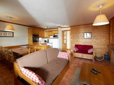 Photo for Surface area : about 41 m². View mountain. Living room with bed-settee, fireplace