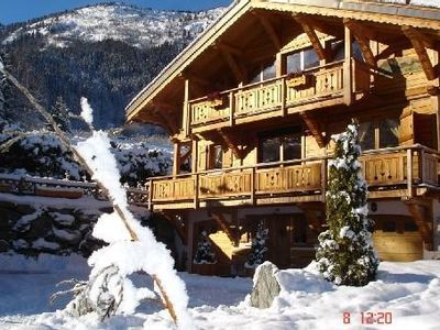 Photo for Luxury Chalet Jacuzzi ext. in Chamonix Mont Blanc Les Houches