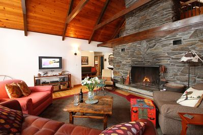 Sit in front of the fire, turn on the TV and enjoy the company of your friends and family