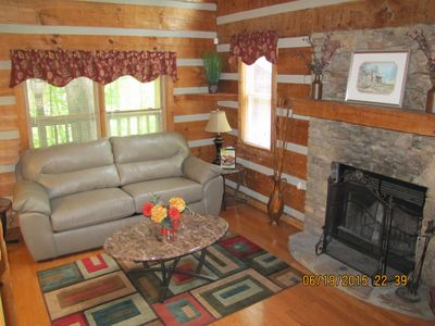Photo for PERFECT 1 BR-1.5 BATH! /HOTTUB! / WASHER/DRYER! /FIREPLACE!/ CLOSE TO PARKWAY!