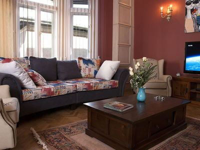 Photo for Palace Grand Double apartment in VIII Józsefváros with WiFi, air conditioning & lift.