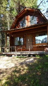 "Photo for ""Loon's Nest"" rustic cabin hidden amongst the pines"