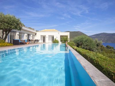 Photo for A LUXURIOUS VILLA WITH PANORAMIC SEA VIEWS AND PRIVATE SEA ACCESS