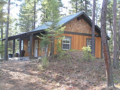 Stay at Whispering Pines Cabins overlooking Flathead Lake.