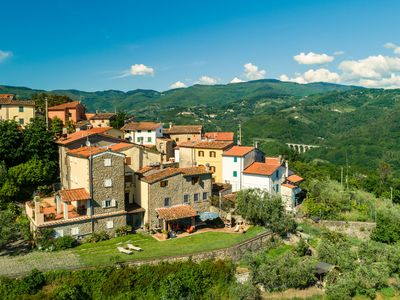 Photo for Villa with panoramic view and private garden in the countryside of Pistoia
