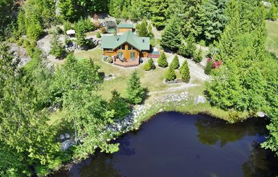 Photo for Rockridge Cabin in Garden Bay with hot tub and private pond, steps to lake