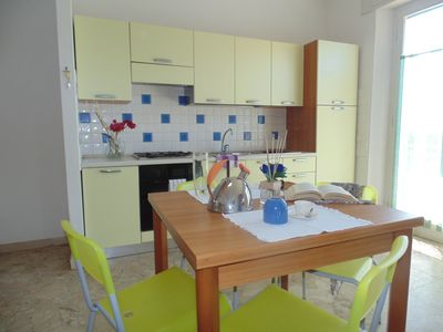 Photo for Apartment 50 meters from the sea with balcony on the beach side