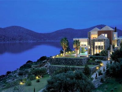 Photo for Villa Marina, panoramic sea view of Elounda Bay and Spinalonga, sleeps 10