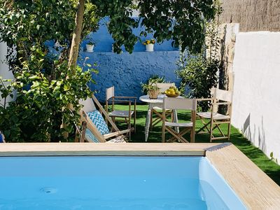 Photo for LOVELY VILLAGE HOUSE WHITE LITTLE POOL 10KM AWAY FROM THE BEACH WITH WIFI