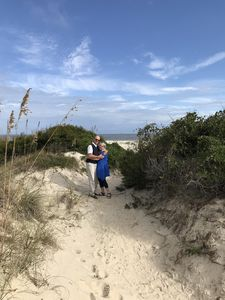Photo for Scenic walk through Maritime Forest to best beach on SSI.