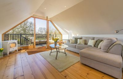Photo for An ideal romantic retreat, Millers Loft holiday cottage offers stunning views of North Norfolk.