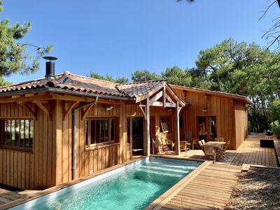 Photo for New villa with pool at the foot of the ocean (horizon beach / Cap Ferret)