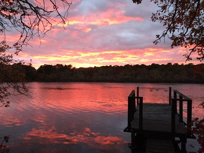 Newly Updated 4BR on Simmons Pond w/Private Dock & Porch - Walk to Downtown