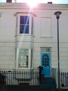 two storey apartment in 1850's Victorian terrace with own private entrance door