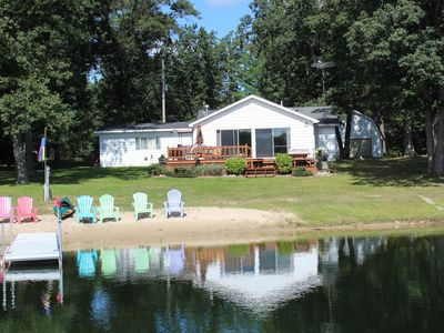Photo for West Twin Lake Beachfront Home in Saint Helen, MI