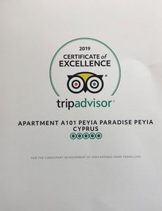 We are proud to have been awarded Trip Advisor's 2019 Certificate of Excellence