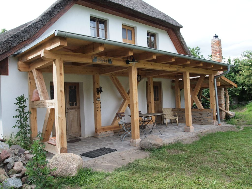 Veranda bauernhaus  Holiday in the old farmhouse on the Eulenhof between Penetal and ...