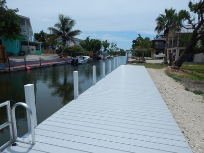Photo for Charming Coastal Chic Canalfront in Cudjoe Key with a new 60' dock
