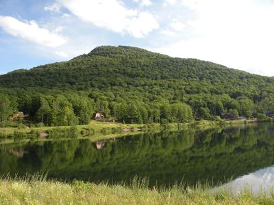 Photo for New 5 bedroom/3 bath lake front house, 1 mile to Hunter Mountain