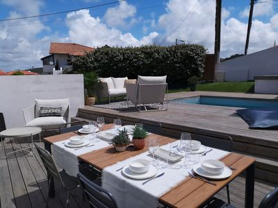 Photo for BIDART BEACH, house with private pool and garden, 100m from the beach