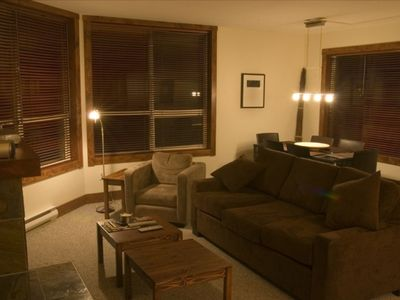 Photo for Ski to the door of our 2 bed / 2 bath Modern  Mountain Condo Suite